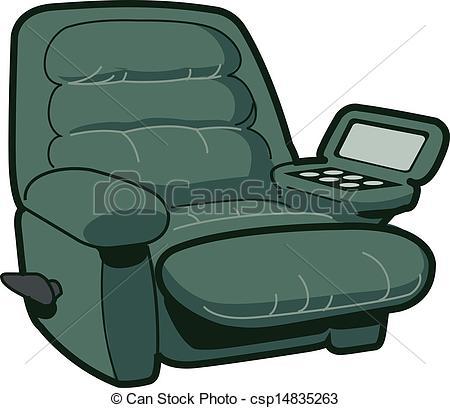Clip Art Vector of Reclining Chair Illustration csp14835263.