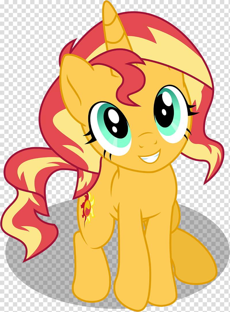 Recolor Sunset Shimmerbetes, orange pony transparent.