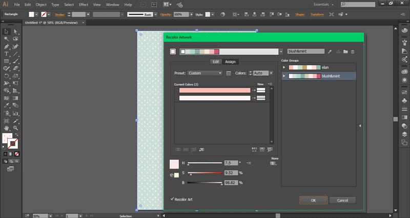 How to recolor artwork in Adobe Illustrator ~ Elan Creative Co..