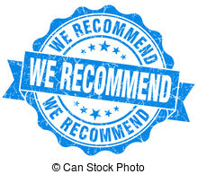 Clipart of We recommend stamp. Grunge design with dust scratches.