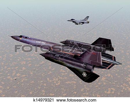 Clipart of Reconnaissance Aircraft SR.