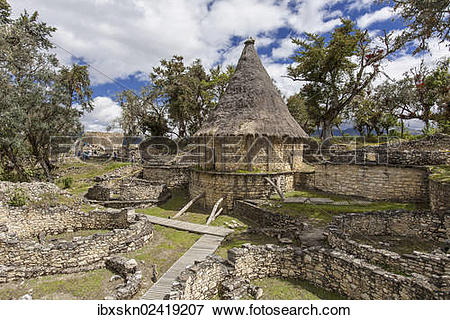 """Picture of """"Reconstructed house of the Chachapoya Andean people."""