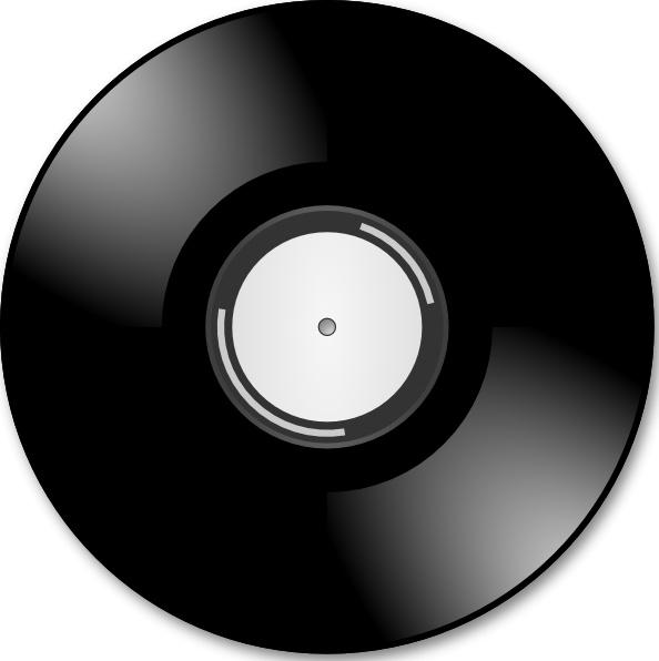 Vinyl Disc Record clip art Free vector in Open office.