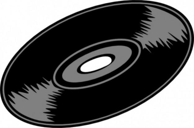 Music Record clip art.