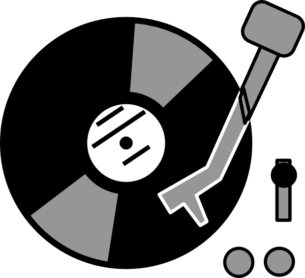 Clipart record player.