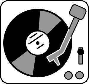 Record player clip art.