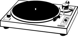 Vinyl Record Player Clip Art.