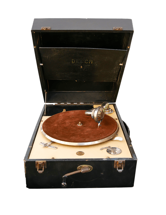 Old Record Player transparent PNG.