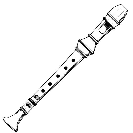 Recorder Instrument Clipart#1886792.