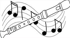 recorder image clipart #19