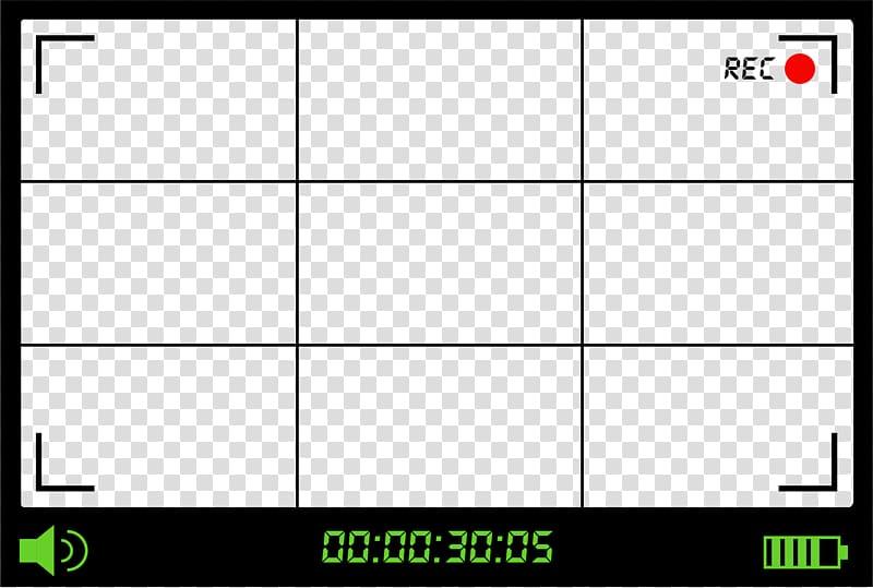 Recording camera at 30:05, Video camera Viewfinder, The.