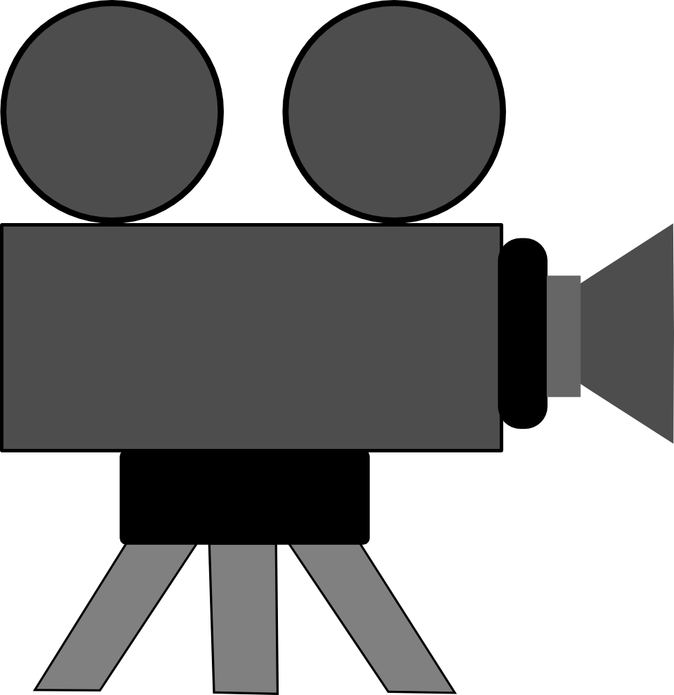 Recording camera clipart.