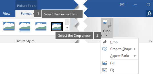 Crop a picture in Office.