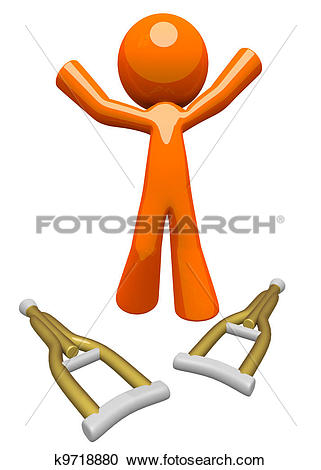 Stock Illustrations of Orange Man Healed and Recovered k9718880.