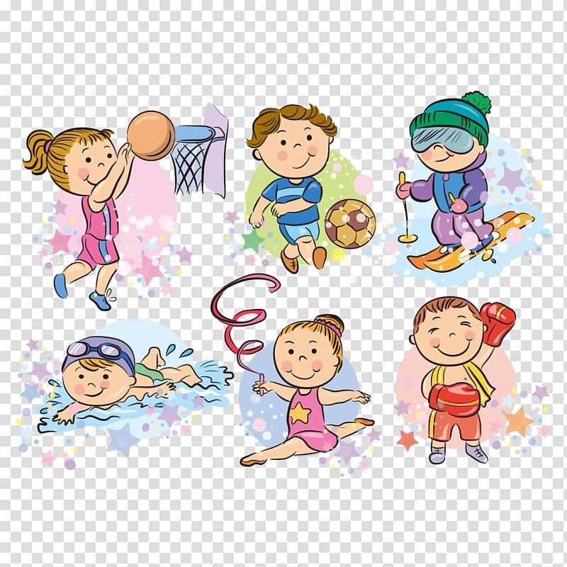 Recreational activities illustration, Cartoon Sport , Sport.