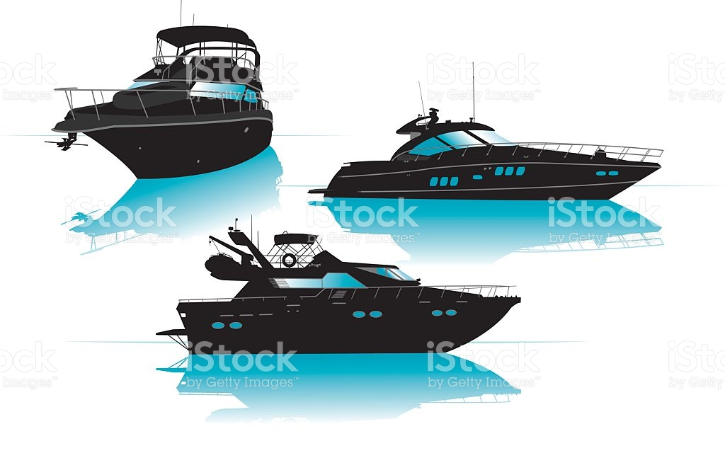 Luxury Boats Or Yachts Recreational Pursuit stock vector art.