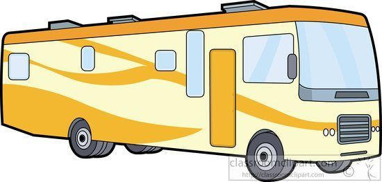 Recreational Vehicle Clipart Yellow Motor Home Class A.