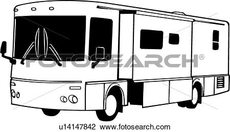 Rv Clipart Vector Graphics 1012 EPS Clip Art And Stock