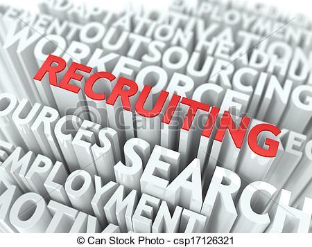 Clip Art of Recruiting.