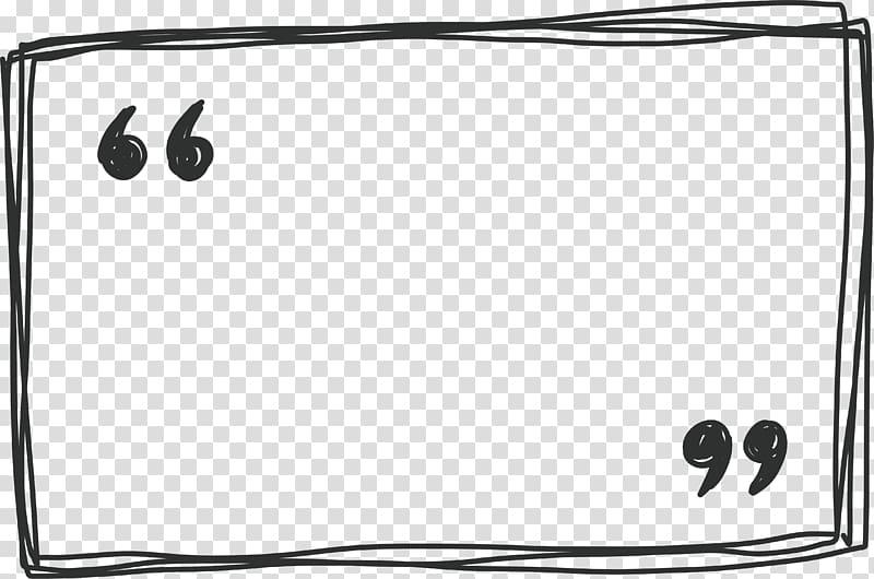 Quotation marks illustration, Rectangle Euclidean , Line.