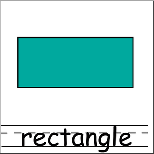 Clip Art: Shapes: Rectangle Color Labeled I abcteach.com.