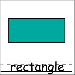 Clip Art: Shapes: Rectangle Color Labeled I abcteach.com.