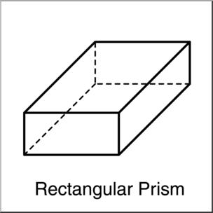 Clip Art: 3D Solids: Rectangular Prism B&W Labeled I.