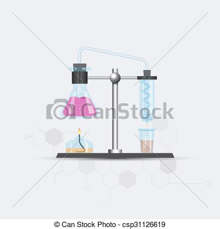 Vector Clip Art of Colorful chemical rectifier picture.