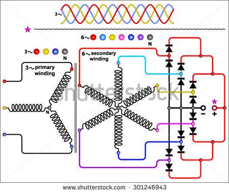 Rectifier Circuits Stock Vectors & Vector Clip Art.