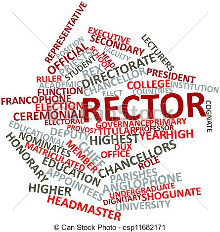 Stock Illustrations of Rector.