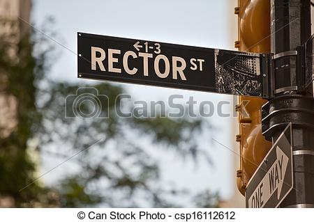 Stock Photography of Rector Street New York csp16112612.