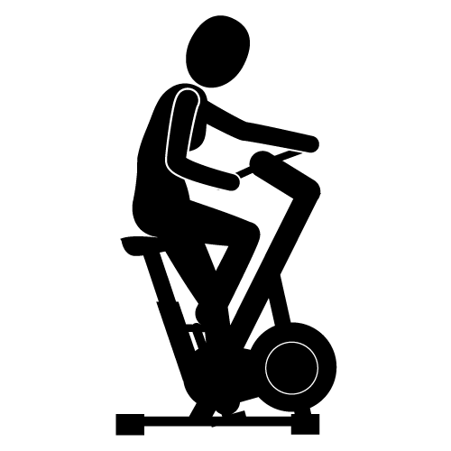 Recumbent Exercise Bikes Clip Art.