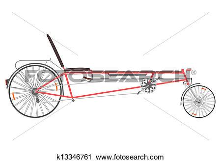 Clipart of Recumbent bike. k13346761.