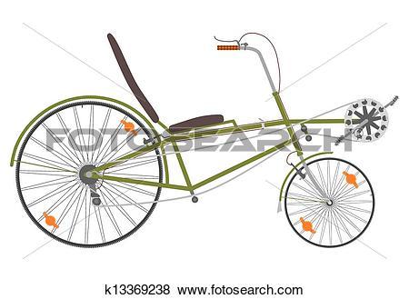 Clip Art of Recumbent bike. k13369238.