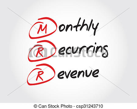 Clipart of Monthly Recurring Revenue.