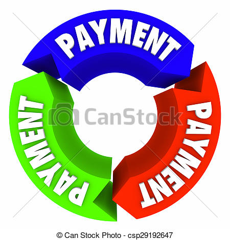 Stock Photo of Payment Cycle Recurring Renewal Plan Arrow Words.