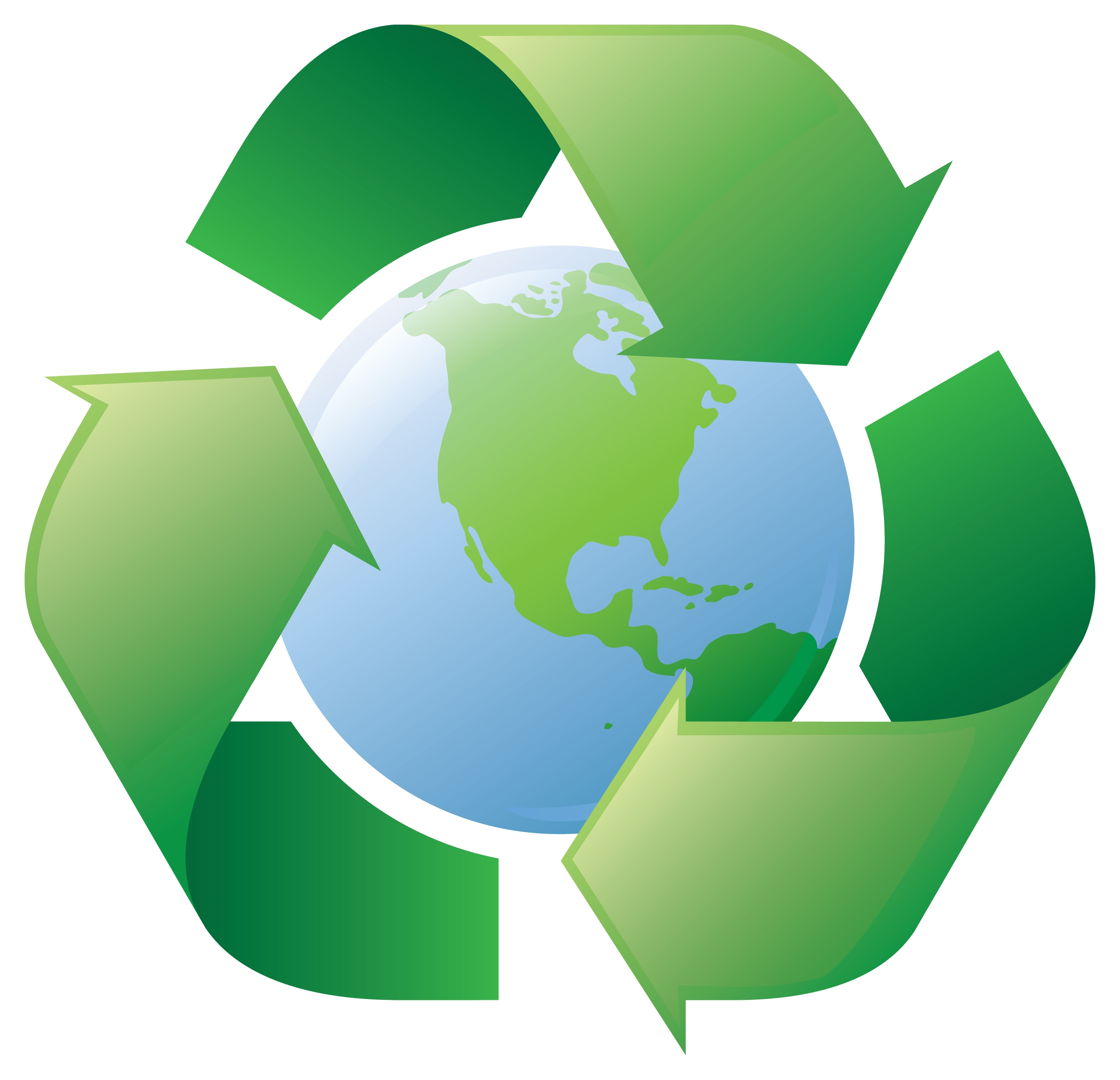 Recycling logos clip art.