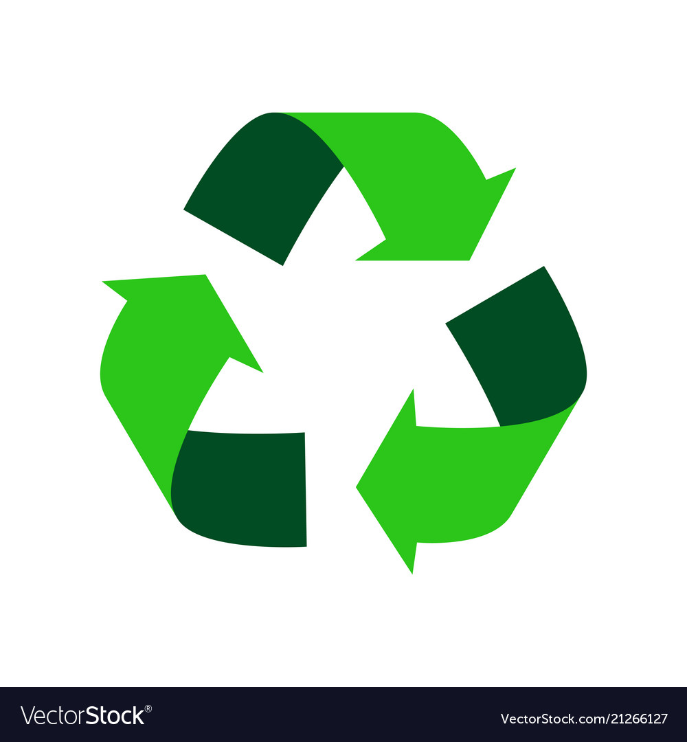Green recycle logo.