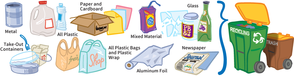 Newspaper clipart recyclable material.