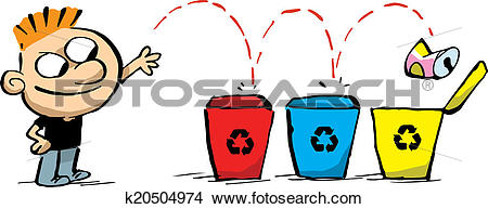 Drawings of recyclables k20504974.