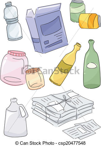 EPS Vector of Recyclables.