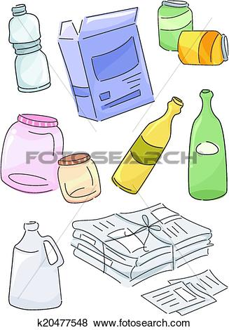 Clip Art of Recyclables k20477548.