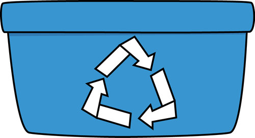 Recycle bin clip art.