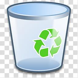 Refresh CL Icons , Recycle_Bin_Empty, gray plastic bin.