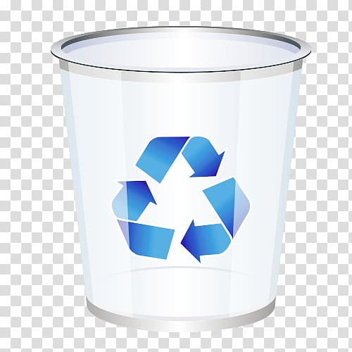 Recycling Waste container Icon, Recycle bin material.