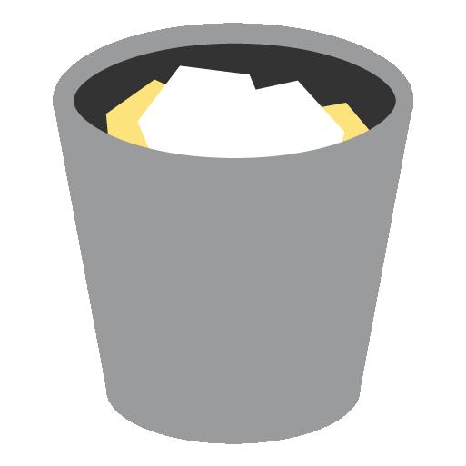 Bin, full, recycle, recycle bin, trash icon.