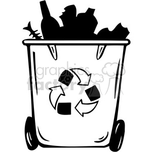 eco recycling cans clipart. Royalty.