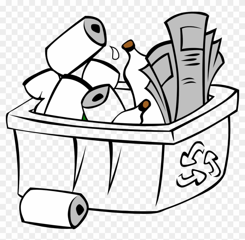 Recycling Clipart Black And White.