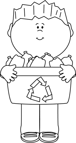 Recycle clipart black and white clipart images gallery for.