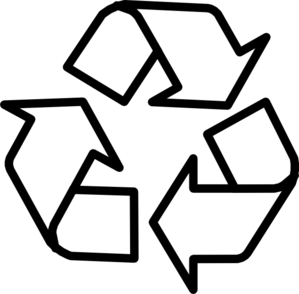 Recycle clipart black and white free clipart images image #25935.